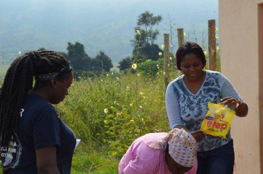 Preparing e-Pap at Nkhanini NCP