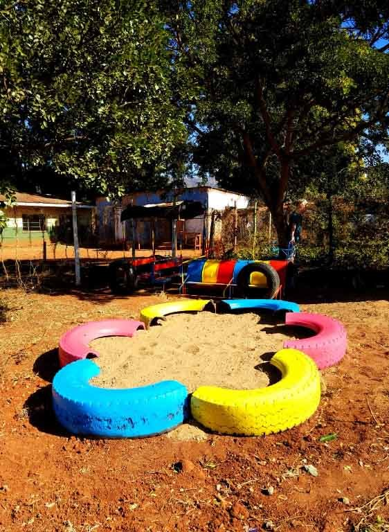 Outside play area at Zulwini NCP