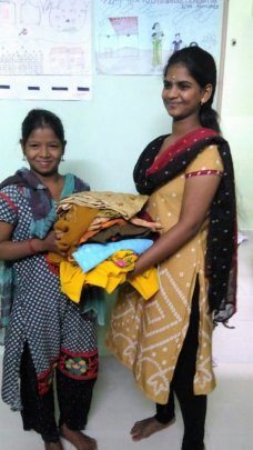 Clothes distributed for girls