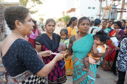 Relief Money distributed for women