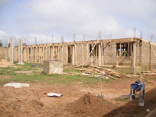 Dining hall under construction