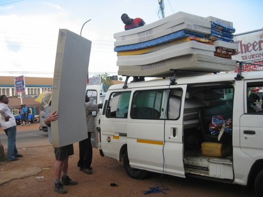 The arrival of the much-needed new mattresses