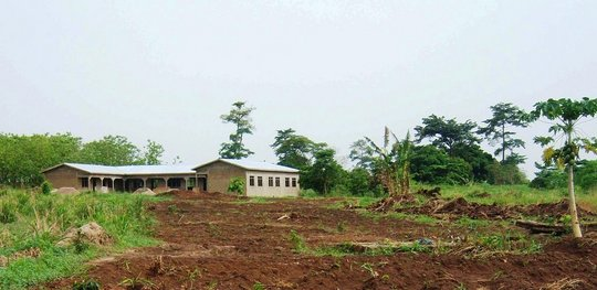 The school under construction