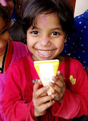 Child enjoying a juice!