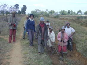 on the field with local people in Antsirabe