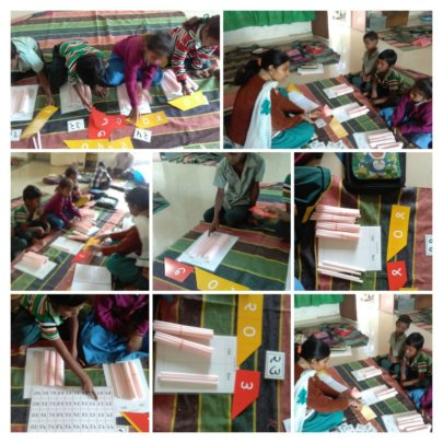 Children are busy in study