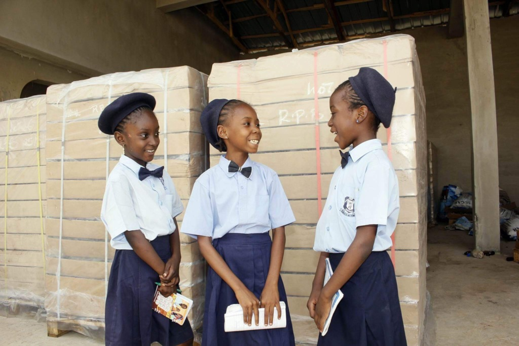 Students of Timeout for Africa, a Girl Fund winner
