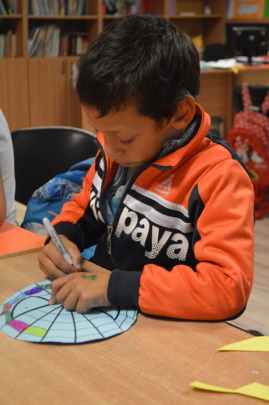 Drawing activity on the Educational Center