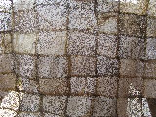 Closeup of the non-spun textile