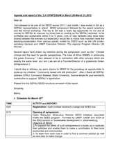 Trip report on SEED (PDF)