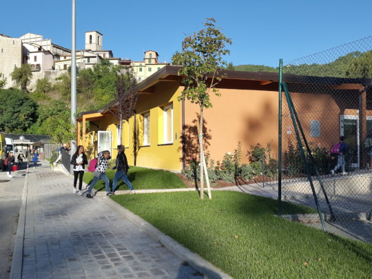 One of the new schools built in Umbria