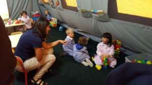 The children in the tents