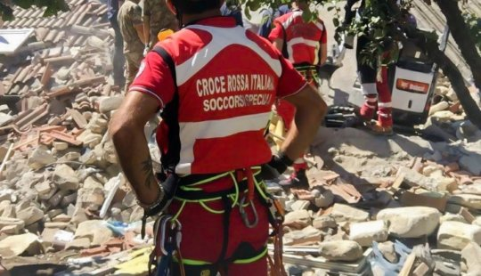 Italian Red Cross relief for Italy Earthquake