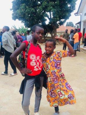 Sumaya (left) with her friend