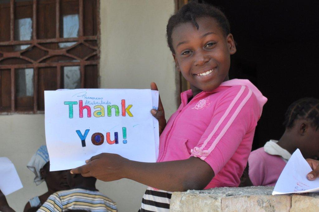 """On behalf of Mudoleine, """"Thank You"""" so much!"""