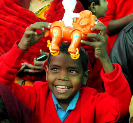 Give Toys to children who have never had them