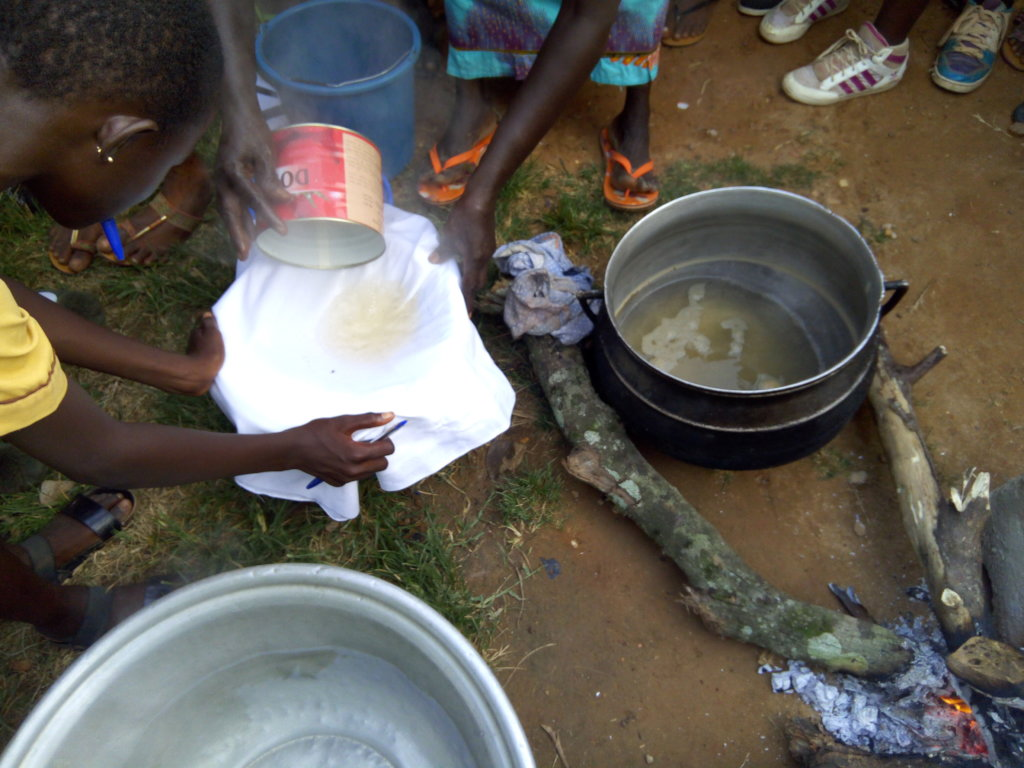 process of filtering the water
