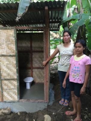 Proud latrine owner