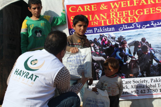 Relief work in co-ordinatin withHayrat Foundation