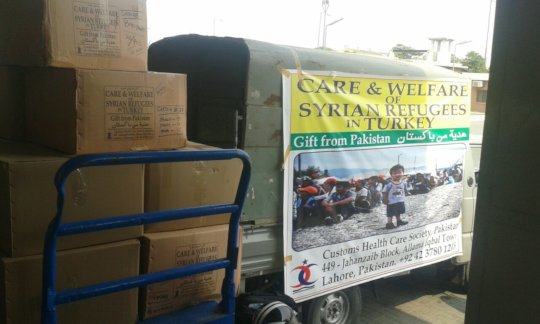 Relief Goods for the Syrian Refugees from Pakistan
