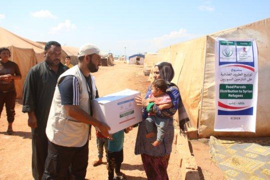 Relief activities of CHCS in camps.
