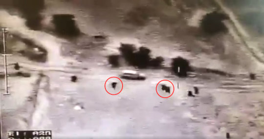 Israeli cops opening fire on Ya'akub Abu Al-Qi'an