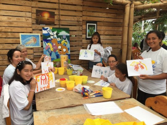 Workshop for children at Festiartes.