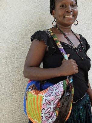 Lidya displaying a piece from her Mabinti training