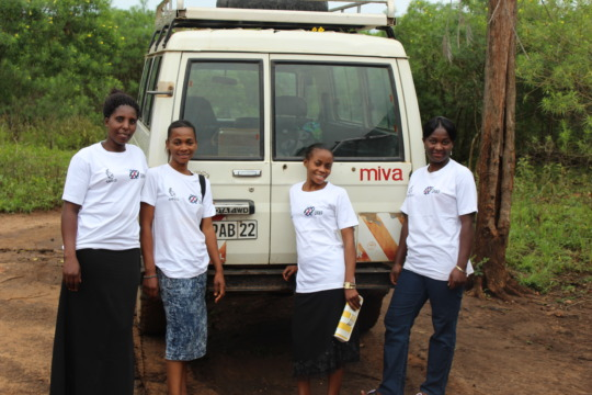 The Girl Ambassadors are happy to serve Rwenena.