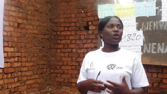 Benedicte, leader of Girl Ambassadors for Peace