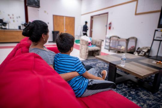 A family seeks refuge after fleeing violence