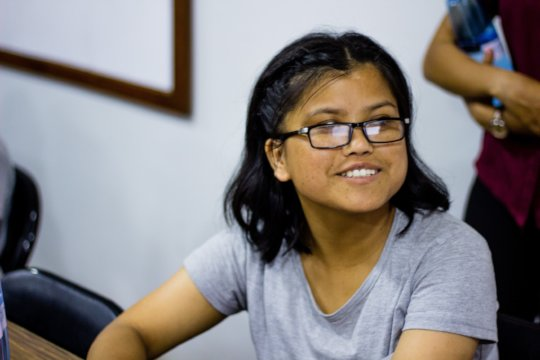 Barma during a session of the LEAD Course