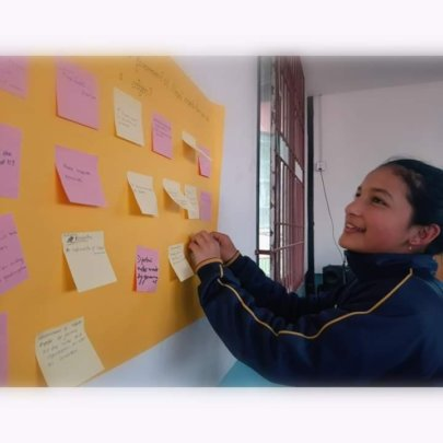 An SLP student during a session of the program