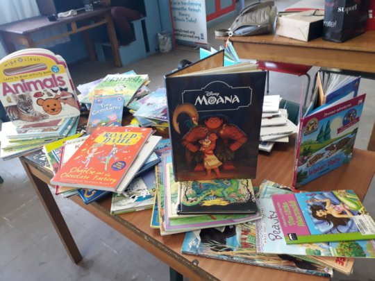 Books donated by Bridge House to Wemmershoek