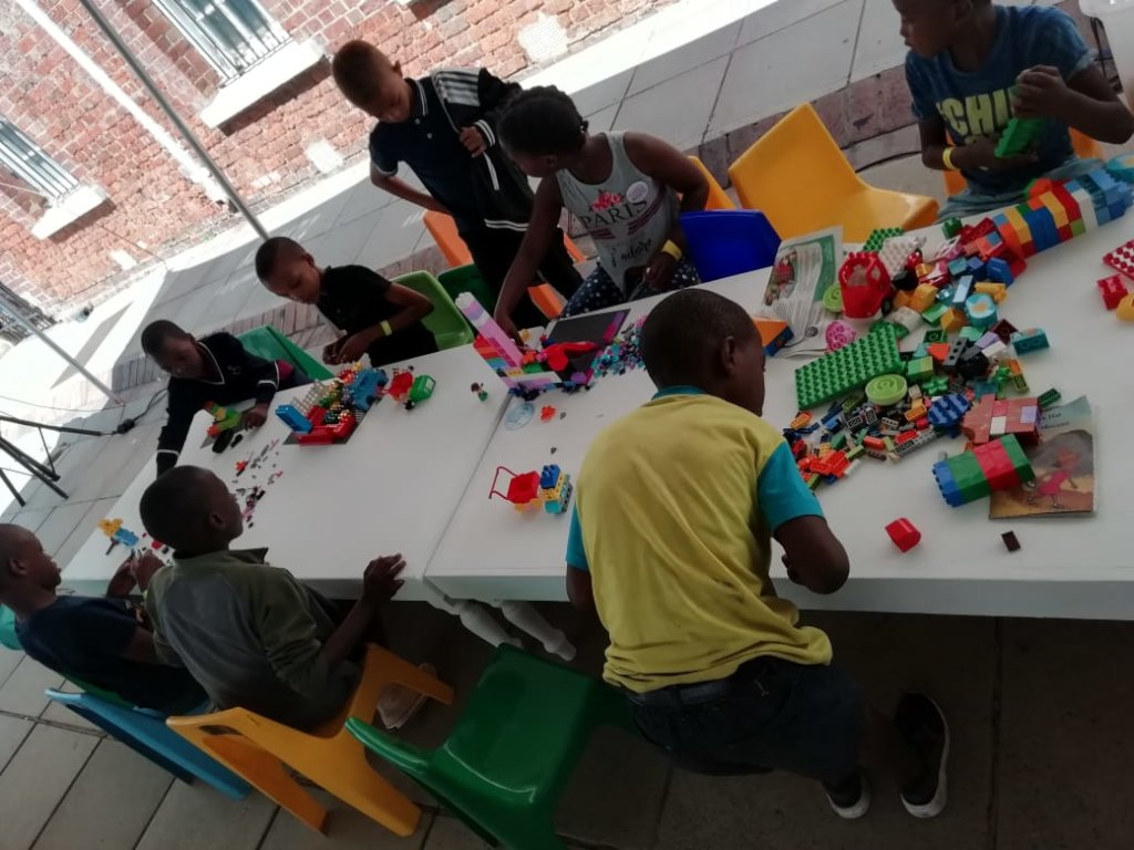 Lego Building Table: Conhill Human Rights Festival