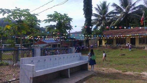 Celebrating new WASH facility at Kasambuhan ES
