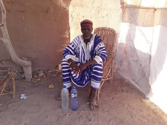 Village Chief Receives Soap from BARKA Foundation