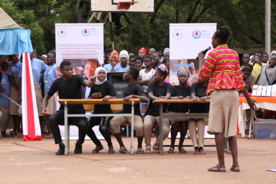 MHM Day: Students teach fellow students in a skit