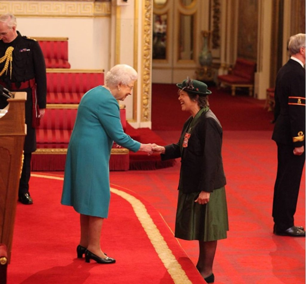Melanie Blake receives her MBE from HM The Queen