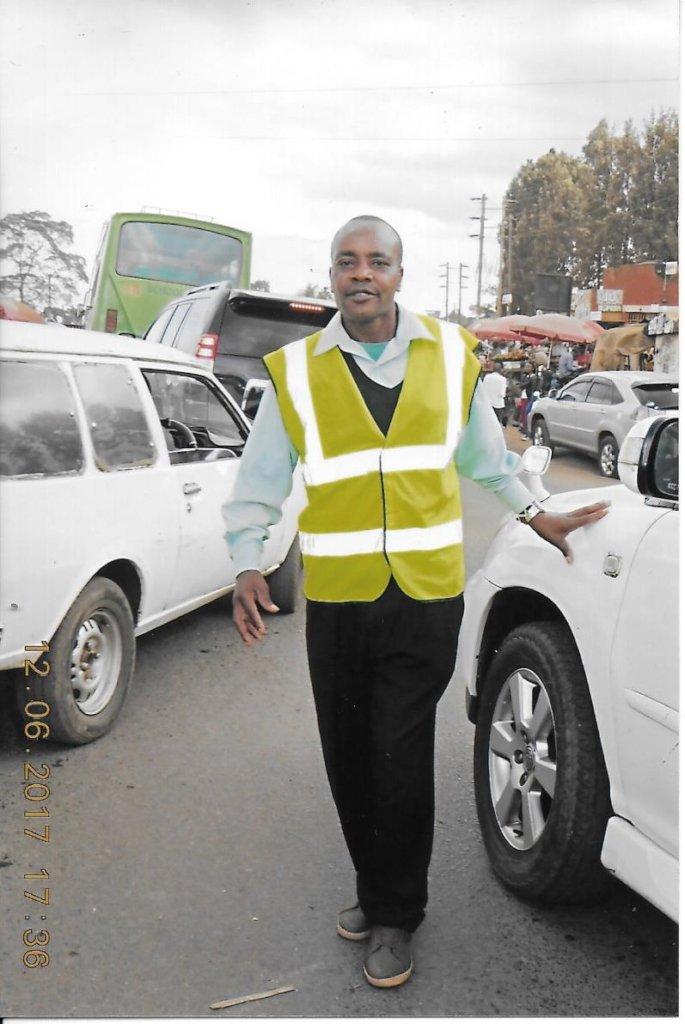 Peter directing traffic