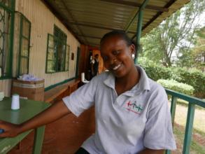 An employee at Kamili