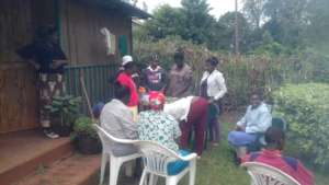Cooking lesson at the Lower Kabete Clinic