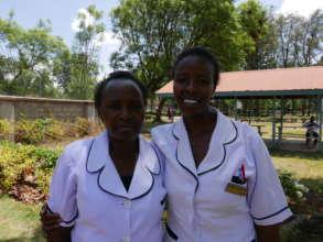 Flora and Lea, Kamili trained nurses