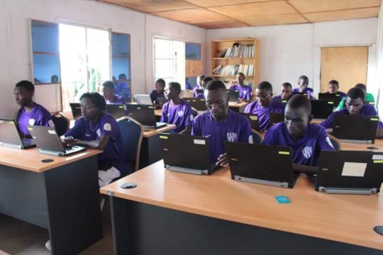 Computing lesson for NGB's soccer team