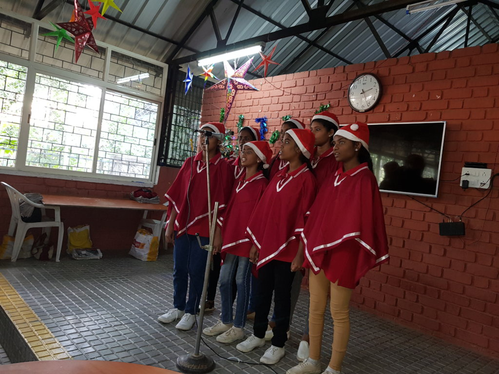 Christmas caroling by our ACT choir