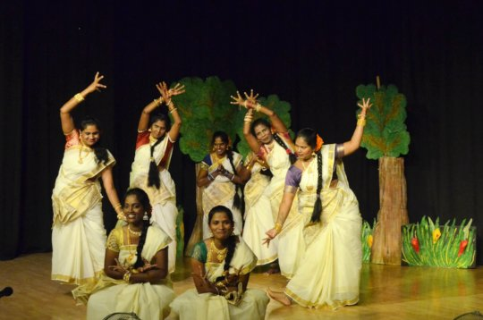 Mothers performing with great joy on annual day