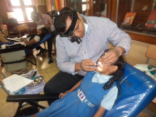 Anushree(name changed undergoing dental assessment