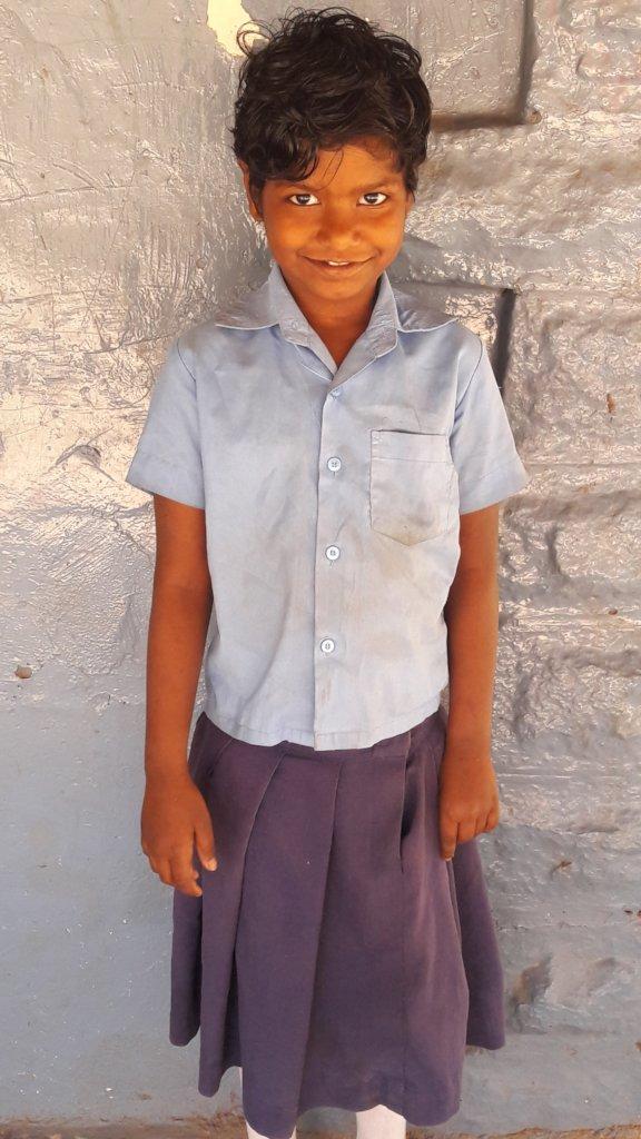 Sandhya at school