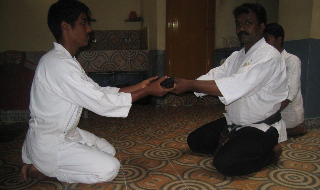 Ramkumar (name changed) gets his Karate Black Belt