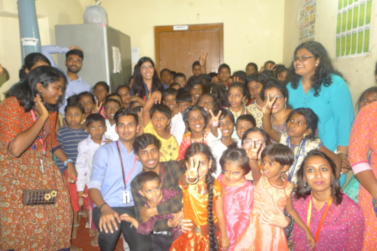 Corporate celebrating children's day